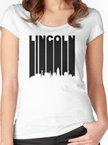 Retro Lincoln Cityscape Women's Fitted Scoop T-Shirt