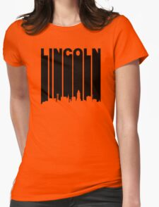 Retro Lincoln Cityscape Womens Fitted T-Shirt