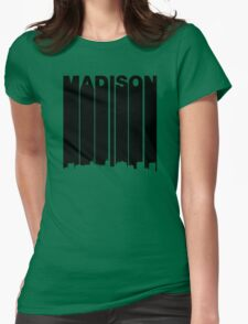 Retro Madison Cityscape Womens Fitted T-Shirt