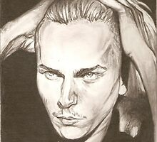 River Phoenix drawing by RobCrandall