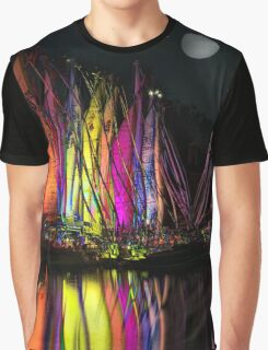 FULL MOON AT THE HARBOR II, by E. Giupponi Graphic T-Shirt