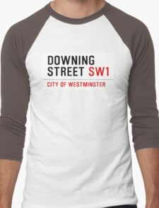 DOWNING STREET SW1 CITY OF WESTMINSTER ENGLAND Men's Baseball ¾ T-Shirt