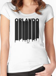 Retro Orlando Cityscape Women's Fitted Scoop T-Shirt