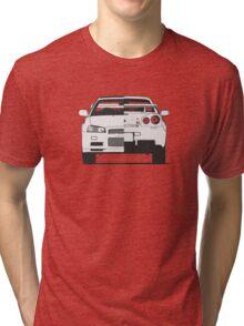 Nissan Skyline (R34) (front/rear) Tri-blend T-Shirt