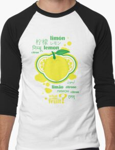 FruitHeads - lemon Men's Baseball ¾ T-Shirt