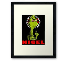 Nigel the Grinch Who Stole England Framed Print