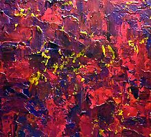 Abstract Knife Painting Impasto Style BOLLYWOOD STYLE  by hollyanderson