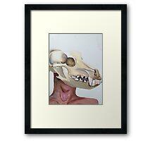 Dog Skull Framed Print
