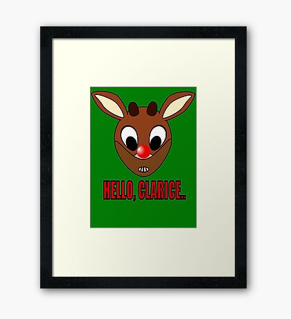Red Nosed Cannibal  Framed Print