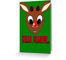 Red Nosed Cannibal  Greeting Card