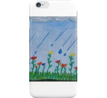no rain no flowers iPhone Case/Skin