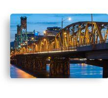 Hawthorne Bridge at Dusk Canvas Print