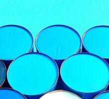 Blue Barrels Sticker