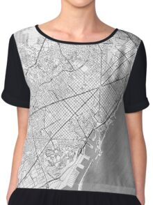 Barcelona Map Line Chiffon Top