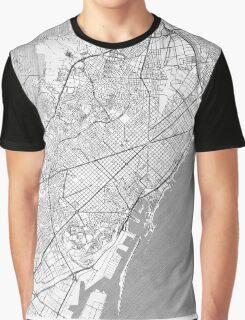 Barcelona Map Line Graphic T-Shirt