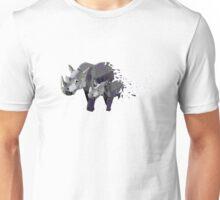 Geometric Marching Rhinos Unisex T-Shirt