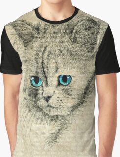 Blue eyed cat Graphic T-Shirt