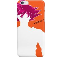 Super Saiyan God Goku - Minimalistic iPhone Case/Skin