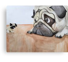 Toy vs The Real Deal  Canvas Print
