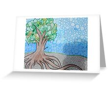 Strong roots hold ground Greeting Card