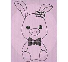 Pig Rabbit (You're Beautiful)  Photographic Print