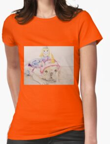 Damsel In Distress Costume Womens Fitted T-Shirt