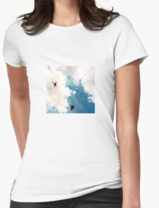 Birds and a Wire Womens Fitted T-Shirt