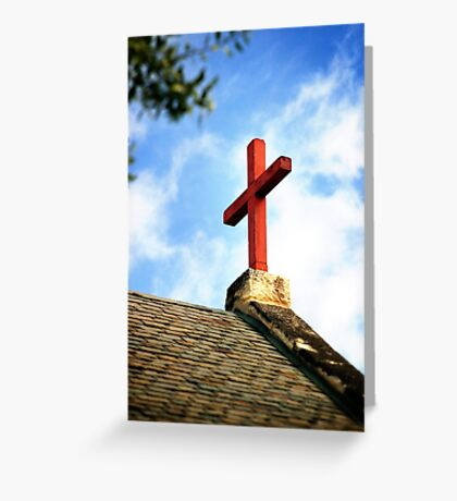 Cross Church Roof Greeting Card