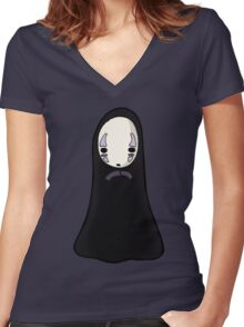 No-face Women's Fitted V-Neck T-Shirt