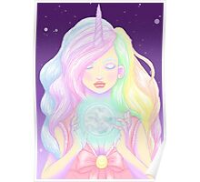 """Unicorn, """"girls are magical"""" Poster"""