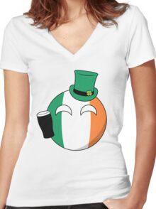 Ireland Ball Women's Fitted V-Neck T-Shirt