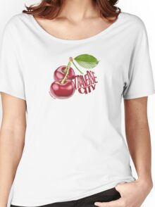 Large Traverse City Cherry Shirt Women's Relaxed Fit T-Shirt