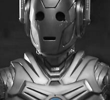 Cyberman Black and White by Themaninthefez