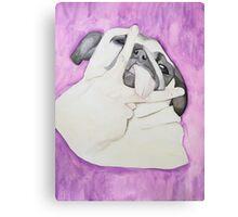 Peace Out Pug  Canvas Print