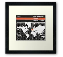 damian lazarus the other side london Framed Print