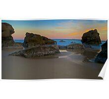 Beach Sunset.  Poster