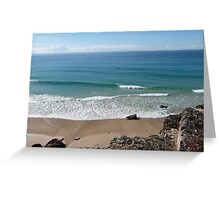 Cool Beach View Greeting Card