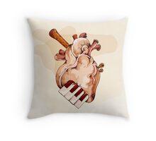 Musical heart abstract element Throw Pillow