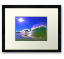 Sunrise Waves. Framed Print