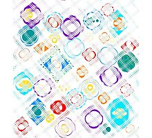 Abstract Raindrop Puddle Plaid Photographic Print