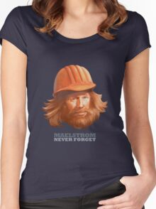 Maelstrom - Never Forget - Construction Worker Women's Fitted Scoop T-Shirt