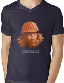 Maelstrom - Never Forget - Construction Worker Mens V-Neck T-Shirt