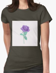 Purple Rose Womens Fitted T-Shirt