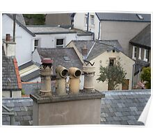 Chimney Pots and Rooftops Poster