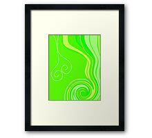 Neon Citrus with a Twist Framed Print