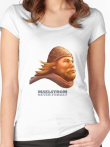 Maelstrom - Never Forget - Viking Women's Fitted Scoop T-Shirt