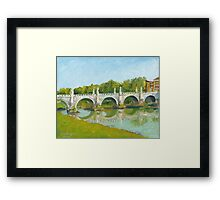 Ponte Sant'Angelo, Roma Framed Print