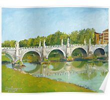Ponte Sant'Angelo, Roma Poster