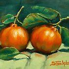 First Mandarins of the Season by Margaret Stockdale