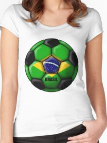 Brasil Ball Women's Fitted Scoop T-Shirt
